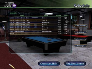 Season 1 - Local Tour - Results - Virtual Pool 4